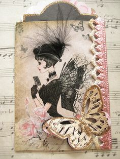 Lady with Wings ATC | Flickr - Photo Sharing!