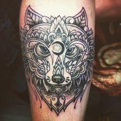 #mandala #wolf #dotwork #tattoo #ink #tatouage #tatuajes #motivation #goodbye #2014