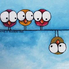 Ideas For Painting Bird Smile Cute Easy Paintings, Funny Paintings, Simple Acrylic Paintings, Bird Paintings On Canvas, Easy Canvas Painting, Diy Painting, Beginner Painting, Acrylic Canvas, Indian Paintings