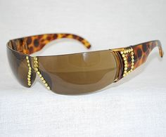 """Enchanting Jewelry Creations - """"Bling Wrap Around Safety Sunglasses/Espresso/Tortoise Shell frames""""  ($30.00) (http://stores.enchantingjewelrycreations.com/bling-wrap-around-safety-sunglasses-espresso-tortoise-shell-frames/)"""