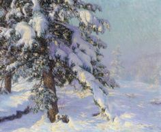 Snow-Laden Art Print by Walter Launt Palmer - WorldGallery.co.uk