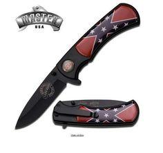 Confederate flag pocket knife www.rebelfourlife.com