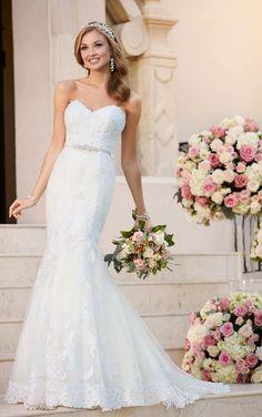 Fit e do alargamento do casamento Vestido com decote - Stella Iorque