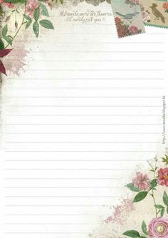 Pretty Printable Lined Paper, Free Printable Stationery, Envelope Lettering, Envelope Art, Journal Paper, Scrapbook Journal, Pretty Writing, Daily Planner Pages, Borders For Paper