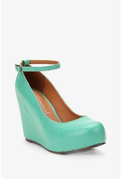 Jeffrey Campbell Leather Platform Wedge - already sold out:(