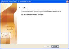 Cómo configurar tu cuenta de correo electrónico en Outlook 2007 y 2010