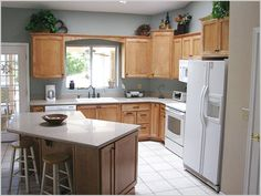 L-shaped Kitchen Designs With Island Simple Ideas On Kitchen ...