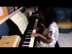 Aisya playing piano solo Schubert Serenade in d minor D Minor, Playing Piano, Piano Lessons, To My Daughter, Piano Classes