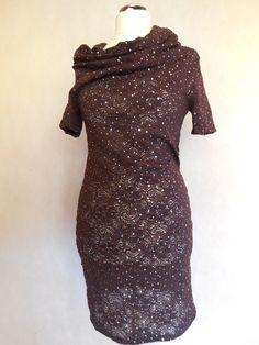 koronkowa  z kominem Short Sleeve Dresses, Dresses With Sleeves, High Neck Dress, Formal Dresses, Fashion, Turtleneck Dress, Moda, Formal Gowns, La Mode