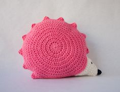 Hedgehog Pillow PDF Crochet Pattern Level Easy by oneandtwocompany, $3.99~~I LOVE THIS PATTERN!!!