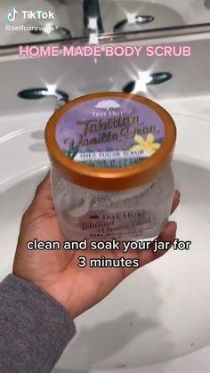 Body Scrub Recipe, Diy Body Scrub, Diy Scrub, Face Skin Care, Diy Skin Care, Skin Care Routine Steps, Beauty Care Routine, Healthy Skin Tips, Beauty Tips For Glowing Skin
