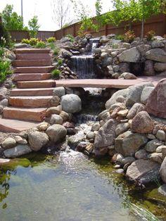 Garden And Backyard Waterfalls Ideas 33