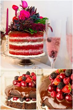 Naked Cakes: Going Au Naturel With Your Wedding Cake! Churros, Oreo, Naked Cake, Wedding Cakes, Sweet, Desserts, Food, Cake Toppers, Birthday Cakes