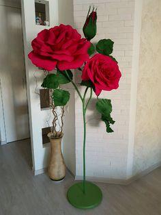 Купить Роза гигант из бумаги. - гофрированная бумага, оригинальный подарок, необычный подарок, дизайн интерьера