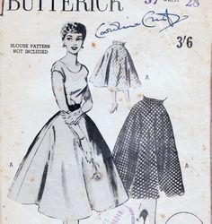 50s Vintage Skirt Pattern Butterick 6167 by allthepreciousthings, $12.00
