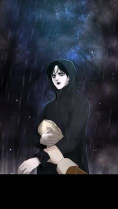 "A creation of alchemy learning to love a human. ""Winter Woods"" by Cosmos and Van Ji on Webtoons.com"