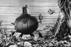 "The Fabulous World of Jules Verne - Karel Zeman ""Vynález zkázy"" (original title). Jules Verne, Around The World In 80 Days, Around The Worlds, Steam Punk, Steampunk Design, Fantasy Films, Environment Design, Visual Effects, Science Fiction"