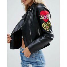 Glamorous Petite Leather Biker Jacket For womens