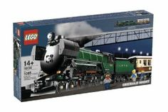 LEGO Creator Emerald Night Train (10194) by LEGO. $247.98. Lots of authentic touches including elements in rare colors and all-new large train wheels with piston motion. This classically-styled train features a steam locomotive with furnace. Includes 3 minifigures. Features opening tender, dining car with removable roof, opening doors and detailed interior. Contains 1,085 pieces. Train measures 68cm (27.2 in) long. From the Manufacturer                Here comes...