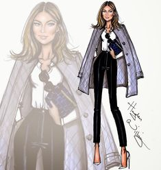 Hayden Williams Fashion Illustrations: NET-A-PORTER Founder Natalie Massenet by Hayden Williams
