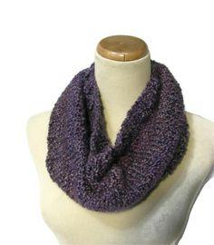 Amethyst Hand Knit Cowl  Circular Scarf  by ArlenesBoutique, $35.00
