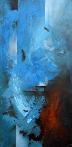 Kunstsamlingen | Artist: Vivi Amelung | Title: Wind blows 1 | Height: 120cm,  Width: 60cm | Find it at kunstsamlingen.dk