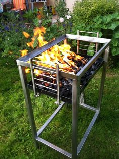 Fire Pit Grill, Fire Pit Backyard, Bbq Grill, Grilling, Churros, Outdoor Barbeque, Brick Bbq, Fire Pit Designs, Fire Bowls
