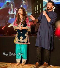 Hamsa Ali Abassi and Mahira Khan