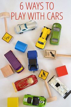 6 Ways to Play with Toy Cars - simple, easy car ideas from @katepickle for @Christie Burnett @Childhood101