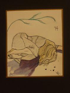 Én, A4, Akvarell, akvarell papír. Painting, Art, Art Background, Painting Art, Kunst, Paintings, Performing Arts, Painted Canvas, Drawings