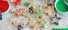Christmas Spice and Snickerdoodle Crispy Treats from  - These are some of the best crispy treats I've ever eaten and a fun cookie decorating alternative.
