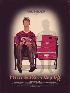 Ferris Bueller's Day Off conspiracy movie poster - collected for www.thecautioustrain.blogspot.com