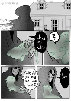 Life Quotes 699043173399707654 - Artist Who's Responsible For Making People Cry With 'Good Boy' And Black Cat Comics Just Released A Sequel Comics Story, A Comics, Black Cat Comics, Black Cats, White Kittens, Short Comics, Cute Stories, Grim Reaper, Faith In Humanity