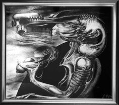 H.R. GIGER - Mutter mit Kind