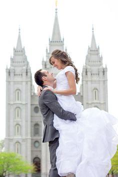 "SLC Wedding Photography, Salt Lake City Temple Wedding. Notebook wedding / pose. ""If you're a bird I'm a bird."""