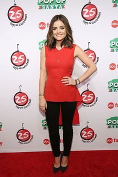 Lucy Hale at ABC family's 25 Days of Christmas Celebration