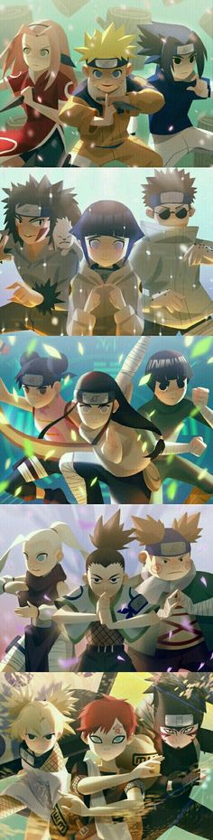 All teams in Genin level Naruto Shippuden Sasuke, Naruto Kakashi, Anime Naruto, Naruto Comic, Otaku Anime, Fan Art Naruto, Naruto Teams, Naruto Sasuke Sakura, Naruto Cute