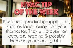 If you want your to operate at its best keep heat-creating appli… – Home Maintenance Hvac Air Conditioning, Hvac Maintenance, Holiday Party Themes, Hvac Repair, Mentor Coach, Real Estate Tips, Day Work, Heating And Cooling, Growing Business