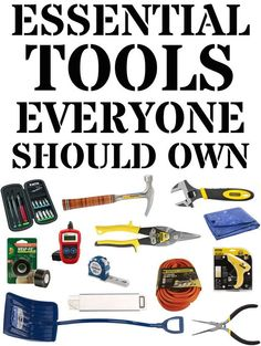 32 Essential And Inexpensive Tools Everyone Should Own | BuzzFeed - Definitely adding some of these items to my wish list.