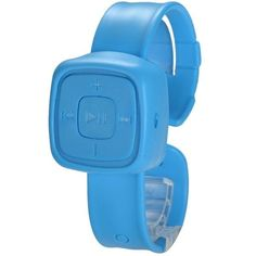 Blue MP3 Player Micro SD/TF Slot Watch #fashionwatch #musicplayer