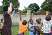 Playing bubbles... one skill every short-term missionary needs to master!