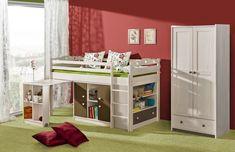 Łóżko, które zapewni dzieciom masę frajdy. Kids Bedroom Sets, Kids Bedroom Furniture, Diy Furniture, Kids Room, Child Room, Kid Beds, Bunk Beds, Low Loft Beds, Locker Storage