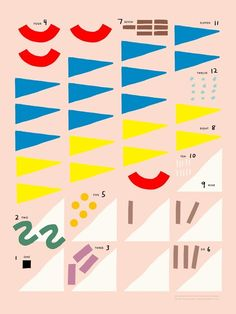 TSO poster counting shapes 30 x 40 cm