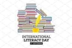 World Literacy Day, Literacy Quotes, International Literacy Day, Social Media Design, Diy Hacks, Hd Photos, Design Inspiration, Illustrations, Poster