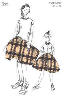 fashion sketches for Born Free