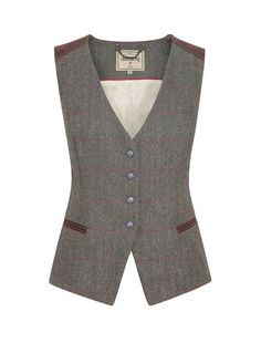 Dubarry Daisy Women's Tweed Waistcoat - New Styling Tweed Waistcoat, Best Leather Jackets, Jackets For Women, Clothes For Women, Discount Clothing, Outdoor Outfit, Work Wardrobe, Work Attire, Preppy Style