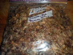 Homemaking on the Homestead: Chicken and brown rice burrito filling