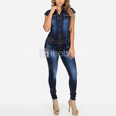 Versace Jaqueta Jeans Mangas Com Cava Baixa Azul