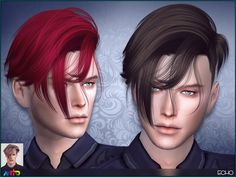 The Sims Resource: Anto - Echo Hairstyle • Sims 4 Downloads