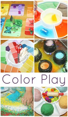 Color Activities For Kids Hands On Learning Through Play Simple Ideas… Play Based Learning, Learning Through Play, Early Learning, Kids Learning, Learning Spaces, Kindergarten Colors, Preschool Colors, Preschool Art, Color Activities